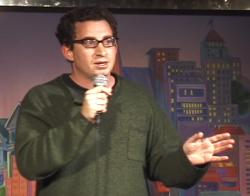 David Spark doing stand up comedy