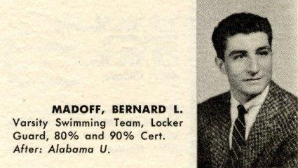 Bernie Madoff High School Photo