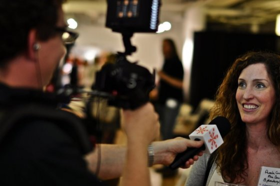 news reporter interview