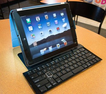tablet with Bluetooth keyboard